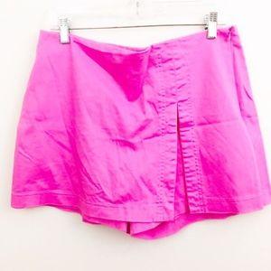 Cache Pink Skort Side Zip Size 10
